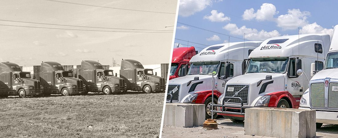 Since 1986, Hill Brothers Transportation on the road